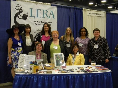 Land of Enchantment Romance Authors at the LERA booth.