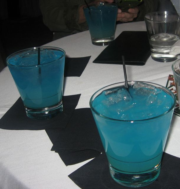 Crystal Blue Persuasion Drinks.