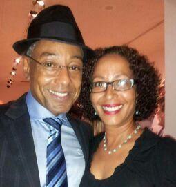 Cynthia with Giancarlo Esposito at the Albuquerque Film and Media Experience event in August.