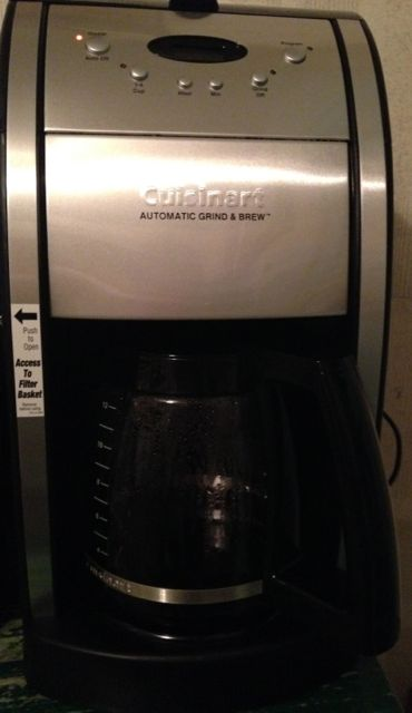 My new Cuisinart Grind & Brew coffee maker I got on sale at Macy's for $70! I squealed shoe rubber when I saw that sign. These suckers run anywhere from $140 – $180.