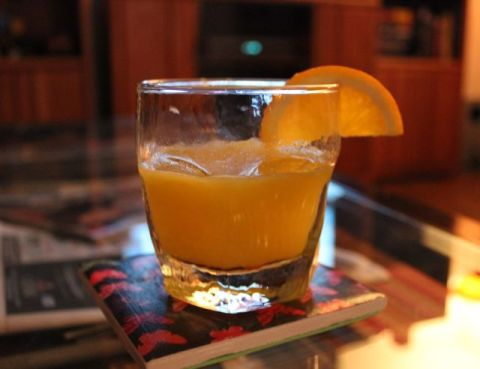 Screwdriver, inspired by AMC's Mad Men Cocktail Guide. I even used fresh-squeezed orange juice. Yum!
