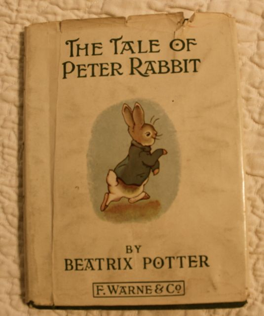 "My copy of ""The Tale of Peter Rabbit."" As you can see, this is one well- and oft-read book."