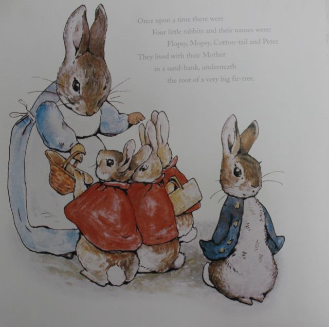 Page from a Peter Rabbit calendar. I have it taped to the wall of my office.