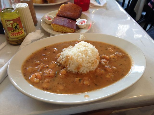 Some shrimp etouffee at the Praline Connection