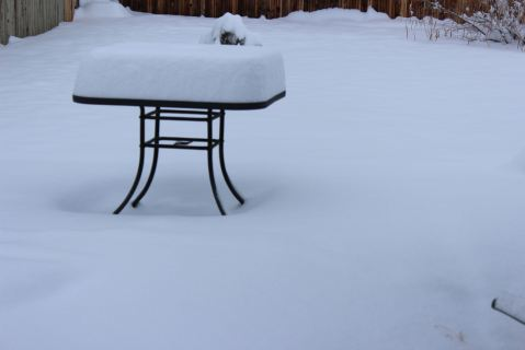 Tabletop of snow